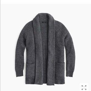 J.Crew chunky knit oversized open cardigan sweater